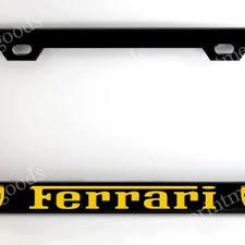 Audi, bmw, porsche, volkswagen lamborghini, ferrari and more. Black Ferrari License Plate Frame Etsy