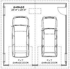 industrial garage door dimensions. Standard Double Car Garage Dimensions Home Desain 2018 Inside Two Door Size Decor 17 Industrial