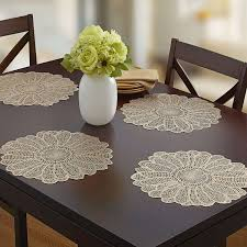 best placemats for round table fresh benson mills elegant adele pressed vinyl placemat set