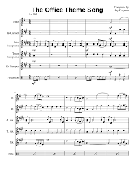 Print And Download In Pdf Or Midi The Office Theme Song