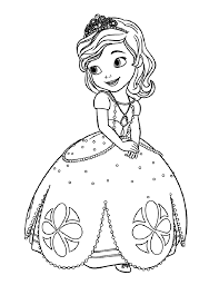 Princes Sofia To Color For Children Sofia The First Kids Coloring