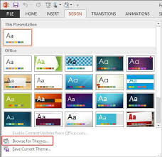 themes for ms powerpoint applying themes in powerpoint word and excel 2013 windows