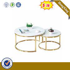 gold coffee table modern marble