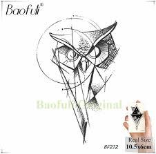 Baofuli животного геометрия алмаз временный мужской татуировки король волк Body Art