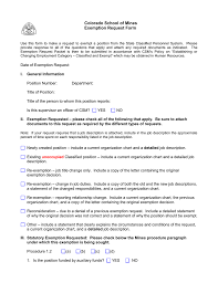 Current State Department Org Chart Colorado School Of Mines Exemption Request Form