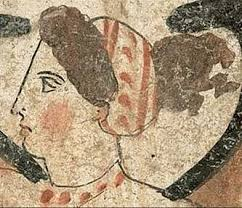 greek woman 4th century bc using probably rouge paestum
