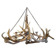 elk antler chandelier from a bavarian hunting lodge for