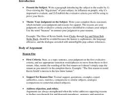 Critical Evaluation Essay Example Writing A Critical Evaluation Essay