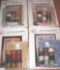 Valdani Thread Color Chart Rosewood Manor Quakers Season Cross Stitch Charts Valdani Threads Linen Preo