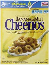 amazon banana nut cheerios cereal 10 9 ounce pack of 4 cold breakfast cereals