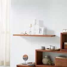 aspect walnut 47 5 floating wall shelf