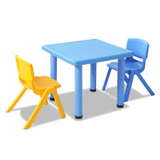 kids study furniture. Keezi Kids Table And Chair Set Children Study Desk Furniture Plastic Blue 3PC-buy- R