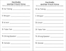 Decibella Voice Chart Decibella Voice Volumes Chart And Back To School Activity