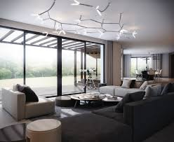 modern ceiling lamps. Handsome Living Room Decoration With Black Sofa Also Attractive Modern Ceiling Lights Design Lamps ,