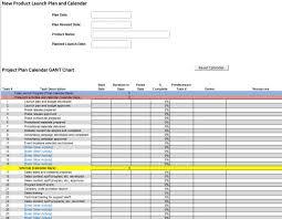 Gantt Chart For New Product Launch Gantt Chart Example For New Product Development