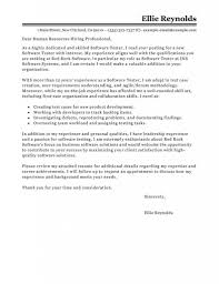 Qa Manager Cover Letter Sample Leading Professional Software Testing Cover Letter Examples