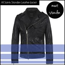 men s ping list all saints standen leather jacket