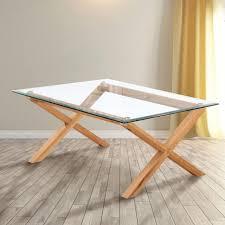 cadiz glass coffee table in oak