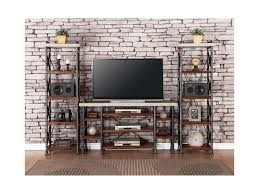 Legends Furniture Steampunk Collection Industrial Entertainment Center with  15 Shelves | Del Sol Furniture | Wall Unit