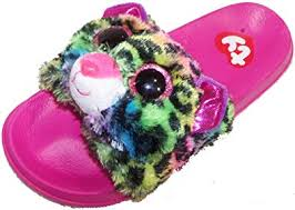 Beanie Boo Slippers Size Chart Ty Beanie Boo Beanie Boo Flip Flop For Girls Dotty Leopard Slider Shoe Slip On