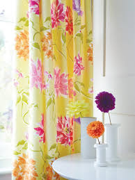 Yellow Curtains For Living Room Yellow Pink Curtains Set Capri Floral Curtains At Bedeck Home