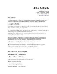 Resume Sample For No Experience Blaisewashere Com