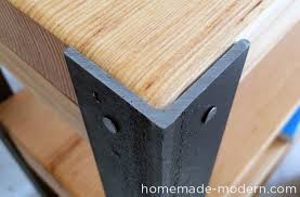 modern furniture diy. This DIY Bookshelf Project Has A Nice Rustic, Modern Look And Is Easily Created From Angle Irons 2x10s. Furniture Diy T
