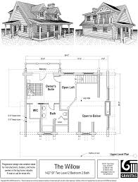cottage floor plans with loft beauteous house small and porch wrap around porches southern w lofts