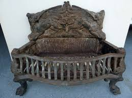 image of old cast iron fireplace grate
