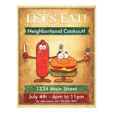 Lets Eat Neighborhood Cookout Flyer