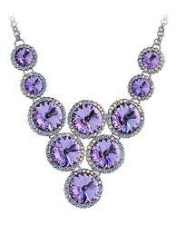 loading zoom lavender swarovski crystal evening chandelier tribal circle shape v bib necklace