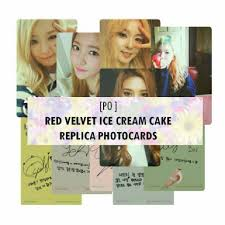 Instock Red Velvet Ice Cream Cake Replica Photocards Entertainment