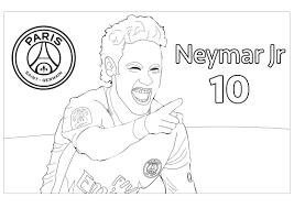 Football Neymar Jr 1 Sport Jeux Olympiques Coloriages Coloriage Maillot Du Psg L