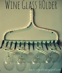 Wine Glass Hangers Under Cabinet Hanging Wine Glass Rack Diy Diy Projects