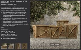 restoration hardware adobe salvaged wood rope planters