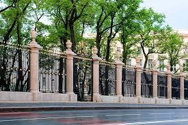 the famous wrought iron fence of the summer garden and the summer palace of peter