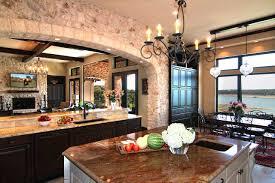 Mediterranean Kitchen Lake Travis Waterfrontzbranek Holt Custom Homes Austin Wood