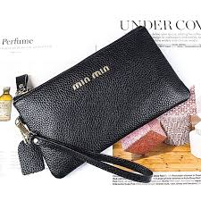 black leather clutches women s wallet long 2018 new temperament korean leather coin purse clutch