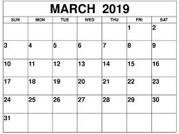 2019 Calendar Printable Template March 2019 Calendar Printable Template Free Printable Calendar
