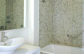 tiny glass tiles bathroom remodel medium size tiny mosaic wall in cream tone with clear glass door white tub how to cut small glass mosaic tiles how to cut