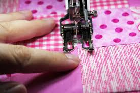 How to Use a Quilting Presser Foot: Stitch In the Ditch & Stitch to the side of the seam allowance Adamdwight.com