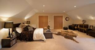 attic bedroom ideas. a bedroom that slopes on both sides with wide center. pair of double attic ideas 3