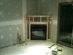 fireplace frame diy for electric insert custom