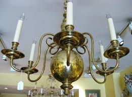 antique brass chandelier made in spain double chain