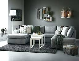 blue accent wall living room grey with med