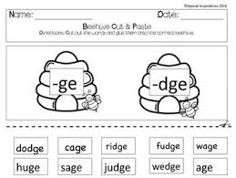Printable phonics worksheets for kids. Ge Or Dge Phonics Literacy Center Beehive Spring Themed Phonics Literacy Center Phonics Literacy Centers