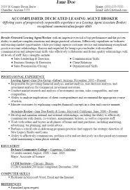 leasing agent resume leasing agent resume sample leasing agent job resume  sample