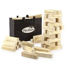 How To Play Tumbling Tower Wooden Block Game Pavilion Games Giant Tumbling Tower ToysRUs 23