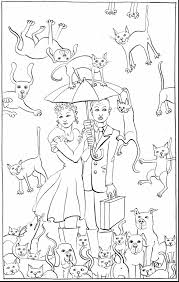 Small Picture unbelievable raining cats and dogs coloring pages with dog and cat