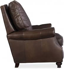 winslow brown leather recliner main image